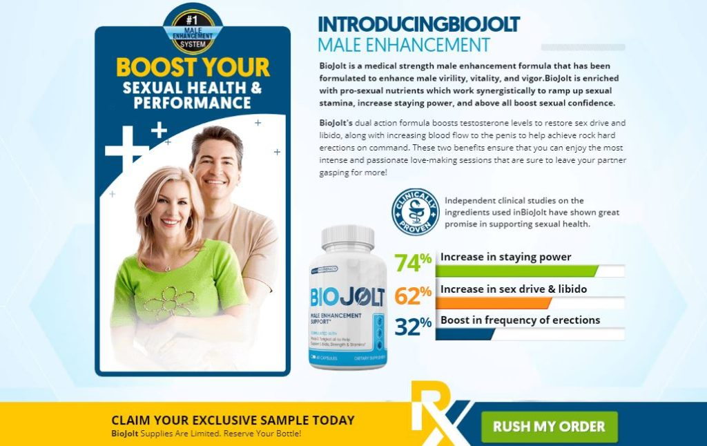 Bio Jolt Male Enhancement Pills